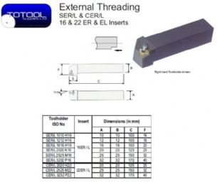 CER 3232P22 External Threading Toolholder